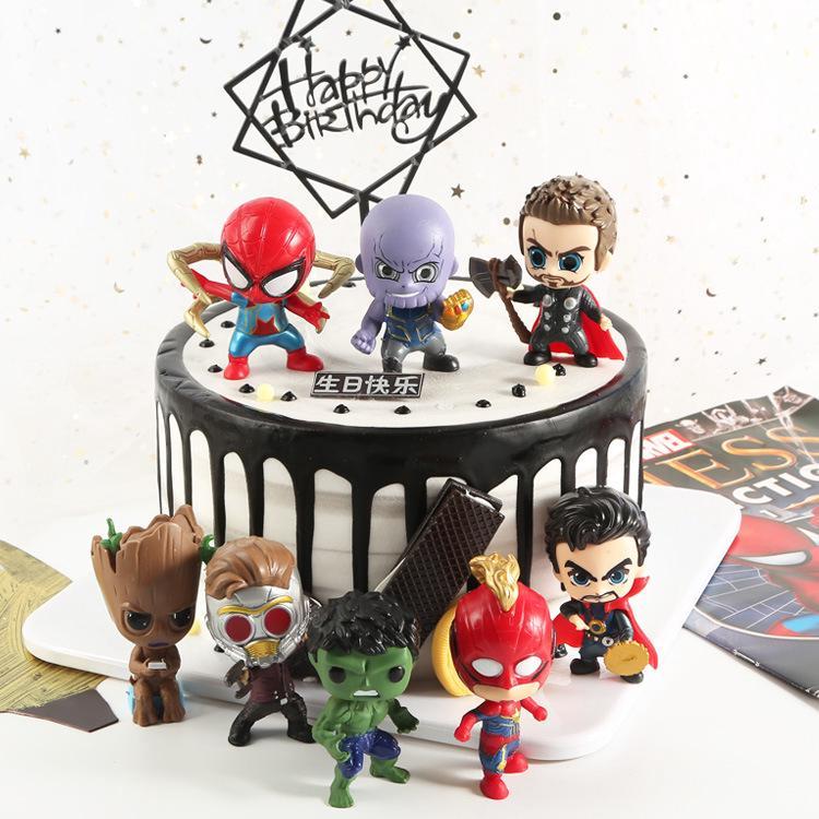 Avengers 4 Đồ ChơI Q PhiêN BảN Thanos NgườI NhệN BúP Bê Trang Trí Mô HìNh đồ ChơI Tay