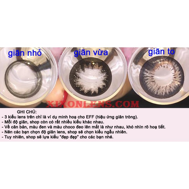 Lens-kính áp tròng Hàn Quốc chính hãng, Màu Đen, (1 cặp lens+khay đơn)
