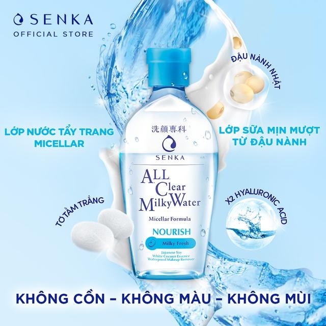 Nước Sữa Tẩy Trang 2 lớp Senka A.L.L. Clear Milky Water 230ml_70120 |  Shopee Việt Nam