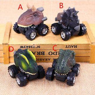 Set 4 ô tô đầu khủng long chạy cót cho bé