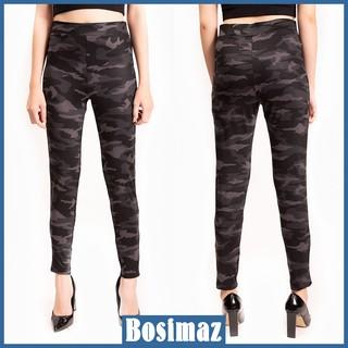 Quần Legging Nữ Bosimaz MS018 dài không túi màu đen rằn ri cao cấp, thun co giãn 4 chiều, vải đẹp dày, thoáng mát. thumbnail