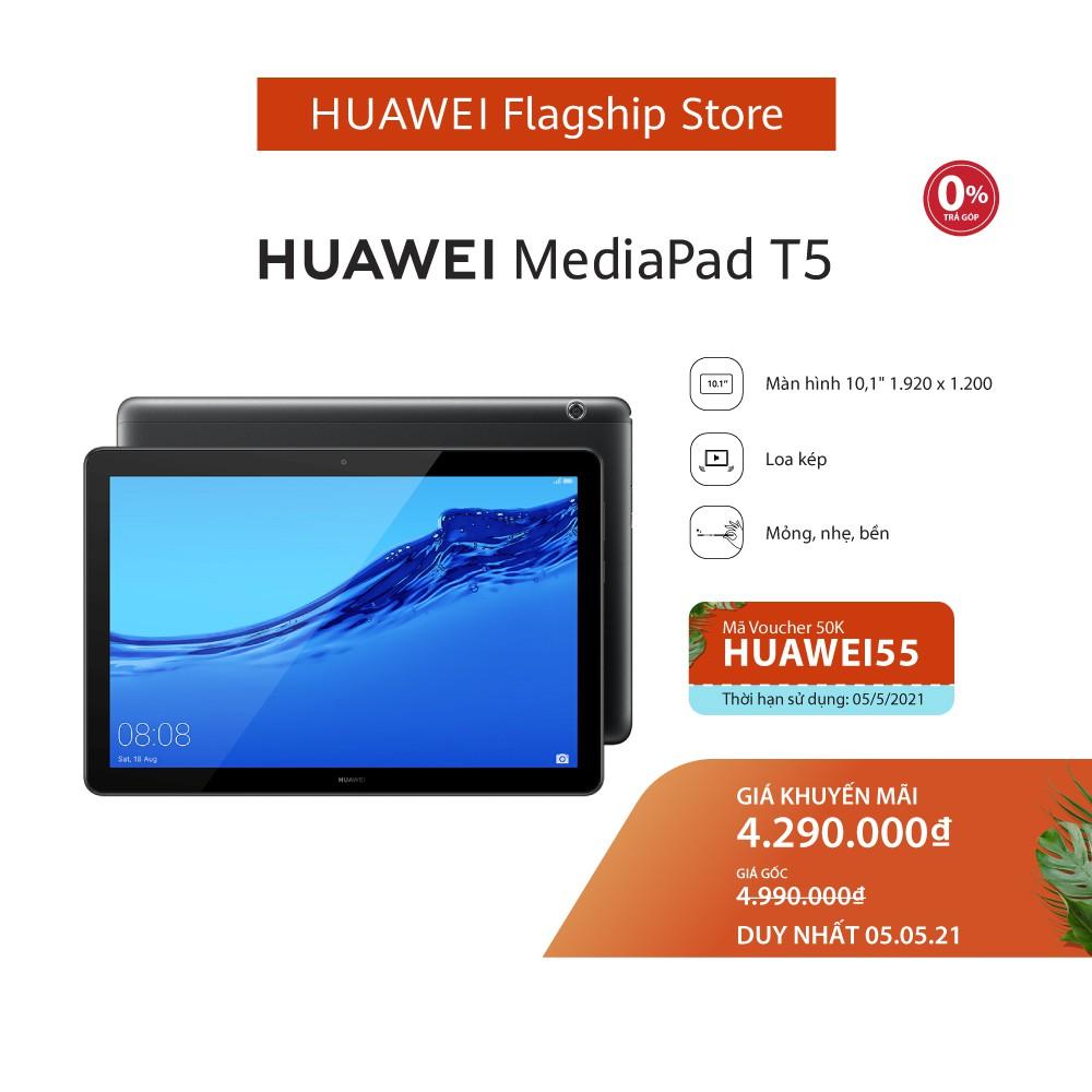Máy tính bảng Huawei Mediapad T5 (3GB/32GB)   Chip Kirin 659   Màn hình LCD  10.1 inch