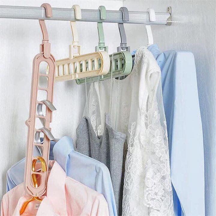 [Combo 5 móc] - Móc Treo Quần Áo 9 lỗ Đa Năng Tiện Lợi cho tủ quần áo gọn gàng