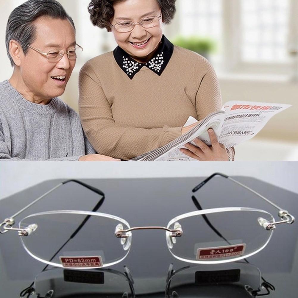 Kính lão đọc sách siêu nhẹ tròng không viền