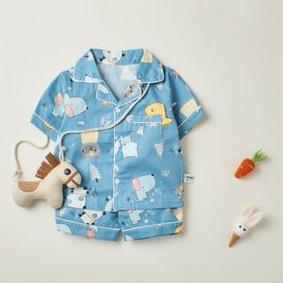 Bộ Pijama cộc tay Cho Bé trai , bé gái - chất liệu cotton thoáng mát BR21002 - MAGICKIDS thumbnail