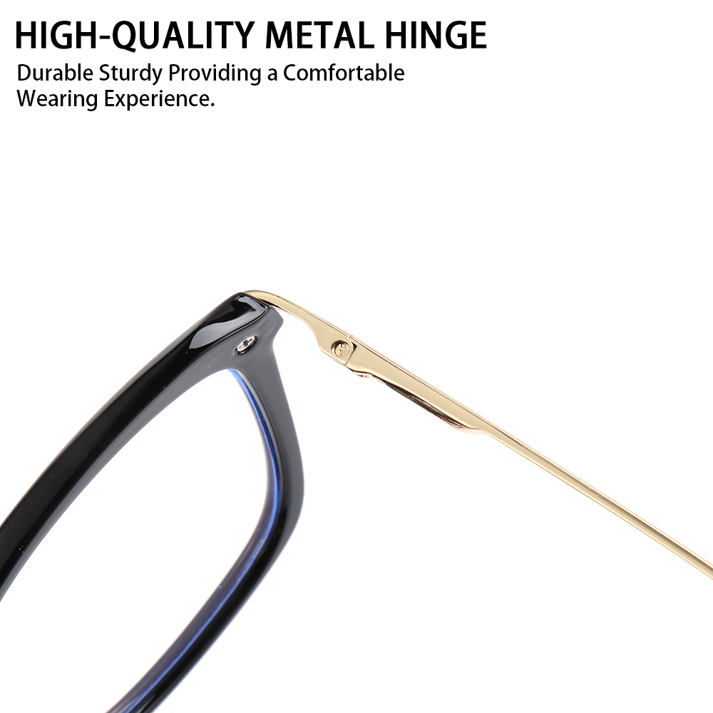 ROW Fashion Computer Glasses Reading Gaming Glasses Eyeglasses Blue Light Blocking Glasses Women & Men Square Frame Anti Eye Eyestrain...