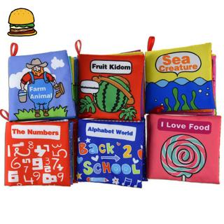 6pcs/set Baby Early Educational Toys Soft Cloth Tear-resistant Book Baby Shower Gifts
