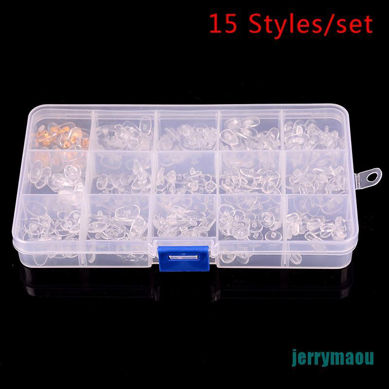 [JERM] 15 Styles 300pc Silicone Nose Pads Glasses Repair Accessories Tool For Eyeglass RAOU