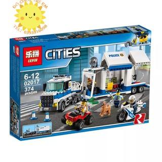 Lego Cities 60139 (CÓ SẴN) Trạm Chỉ Huy Di Động Của Cảnh Sát Lepin 02017 Police Station