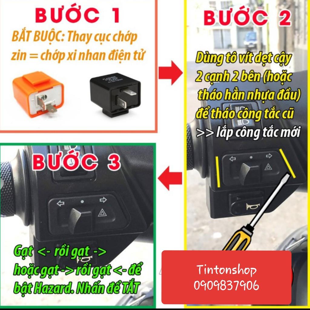 Công tắc xinhan tích hợp hazard đèn ưu tiên - Có video test thực tế