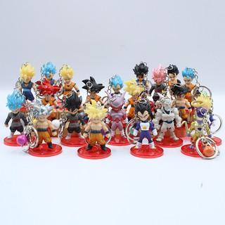 Lẻ Mô hình nhân vật 7 viên ngọc rồng Dragon Ball Songoku chibi dễ thuong 6-7cm