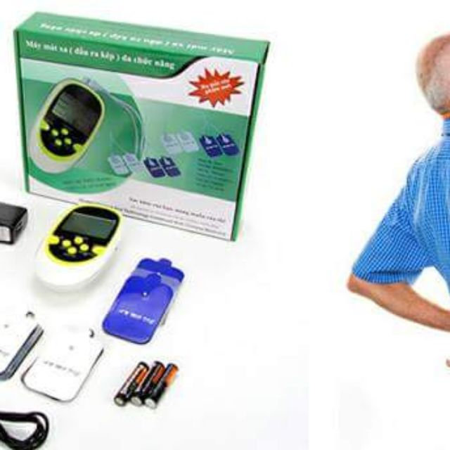 Máy massage xung điện đầu kép 8 chức năng