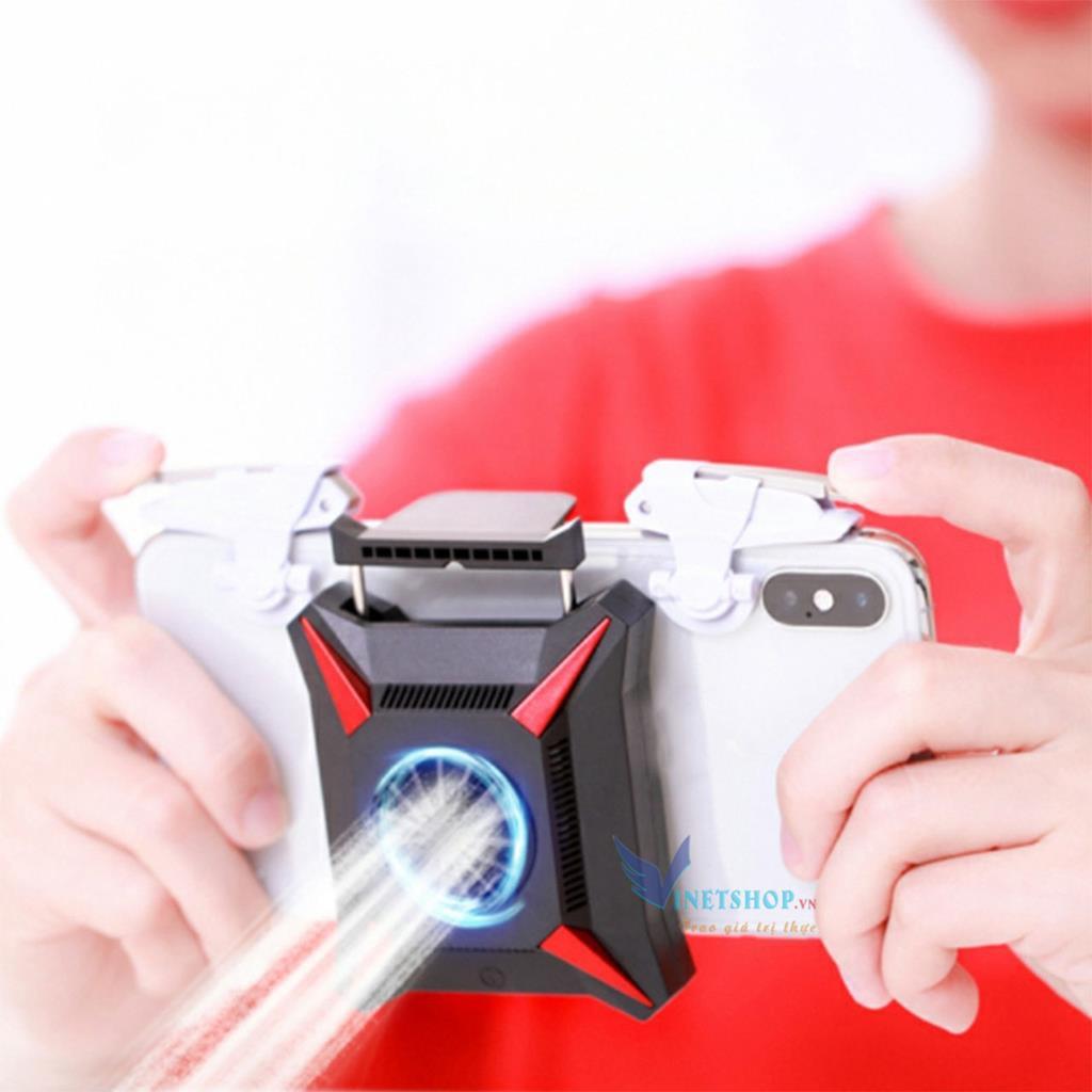 Quạt tản nhiệt gaming K02/ MEMO FL01/AK03/DL01/DL02/DL05/DL06 cho điện thoại chơi PUBG,dễ kết hợp với nút bấm game