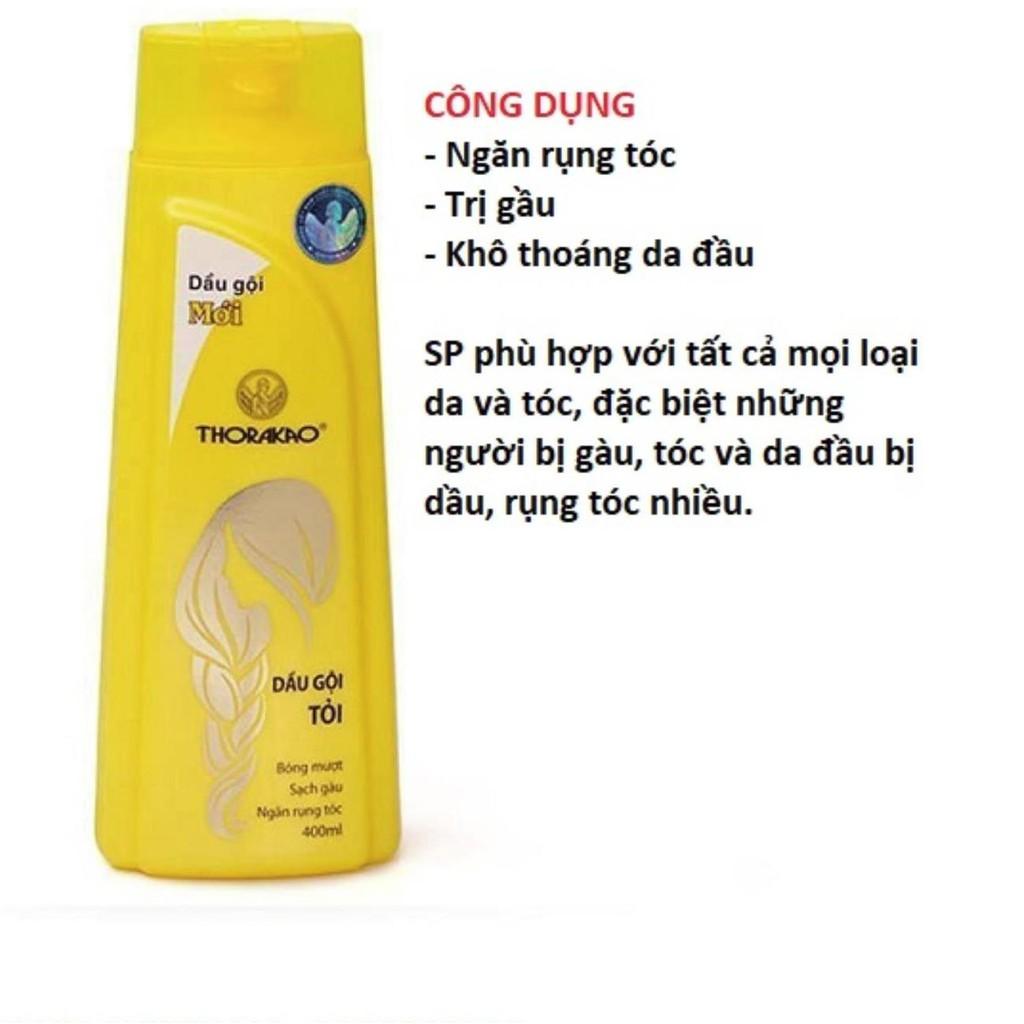 Dầu gội đầu thảo dược Thorakao giúp dưỡng tóc, ngăn ngừa gãy rụng tóc 400ml
