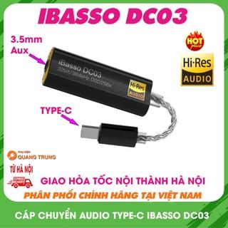 Cáp chuyển iBasso DC02,DC03 kiêm DAC 32bit,DSD 256x,nghe nhạc cực hay