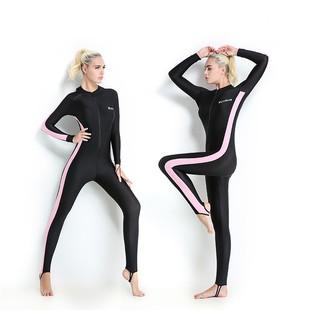 Quần áo lặn biển, đi bơi dày 1mm cho nữ màu Hồng chống nắng, chống tia UV, chống tia cực tím POPO Collection