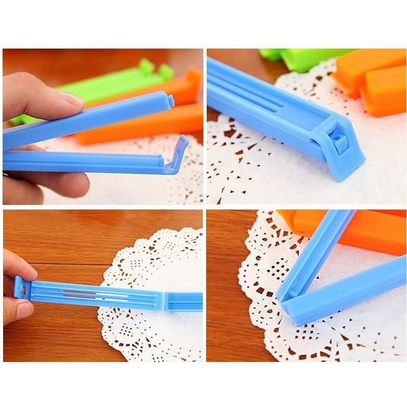 Kẹp miệng túi bóng bảo quản thực phẩm gói gia vị cầm tay chất liệu nhựa siêu chắc chắn 11cm