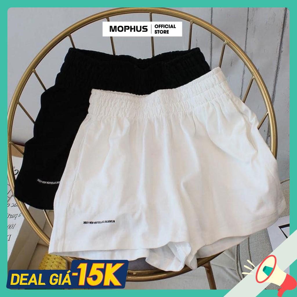 Quần đùi nữ short đũi trắng đen sooc nữ cạp chun ulzzang Mophus MQ004
