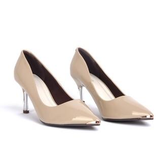 Giày gót nhọn da bóng 5p gót trong - Ge126 - Genni thumbnail