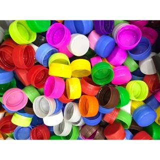 Nắp chai nhựa nhiều màu – 50 chiếc
