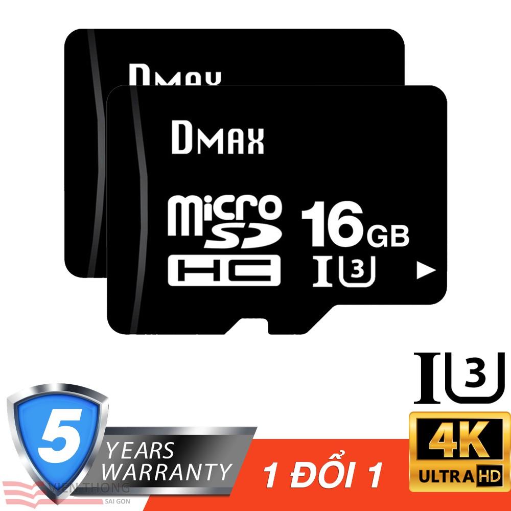 Bộ 2 Thẻ nhớ 16Gb tốc độ cao U3, up to 90MB/s Dmax Micro SDHC - Bảo hành 5 năm - 2780966 , 1084334567 , 322_1084334567 , 338000 , Bo-2-The-nho-16Gb-toc-do-cao-U3-up-to-90MB-s-Dmax-Micro-SDHC-Bao-hanh-5-nam-322_1084334567 , shopee.vn , Bộ 2 Thẻ nhớ 16Gb tốc độ cao U3, up to 90MB/s Dmax Micro SDHC - Bảo hành 5 năm