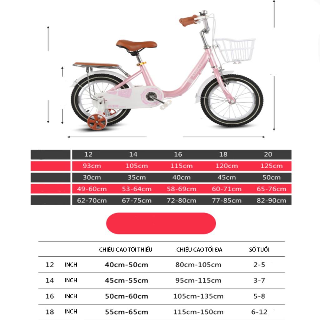 Xe đạp trẻ em, xe đạp cho bé gái 5 – 12 tuổi