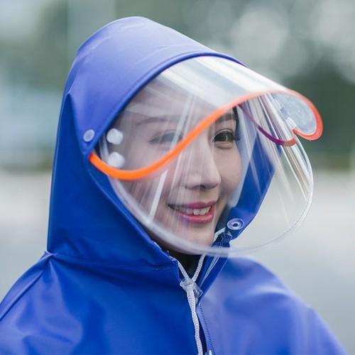 Áo mưa phản quang có kính che mặt 1 đầu - Màu ngẫu nhiên