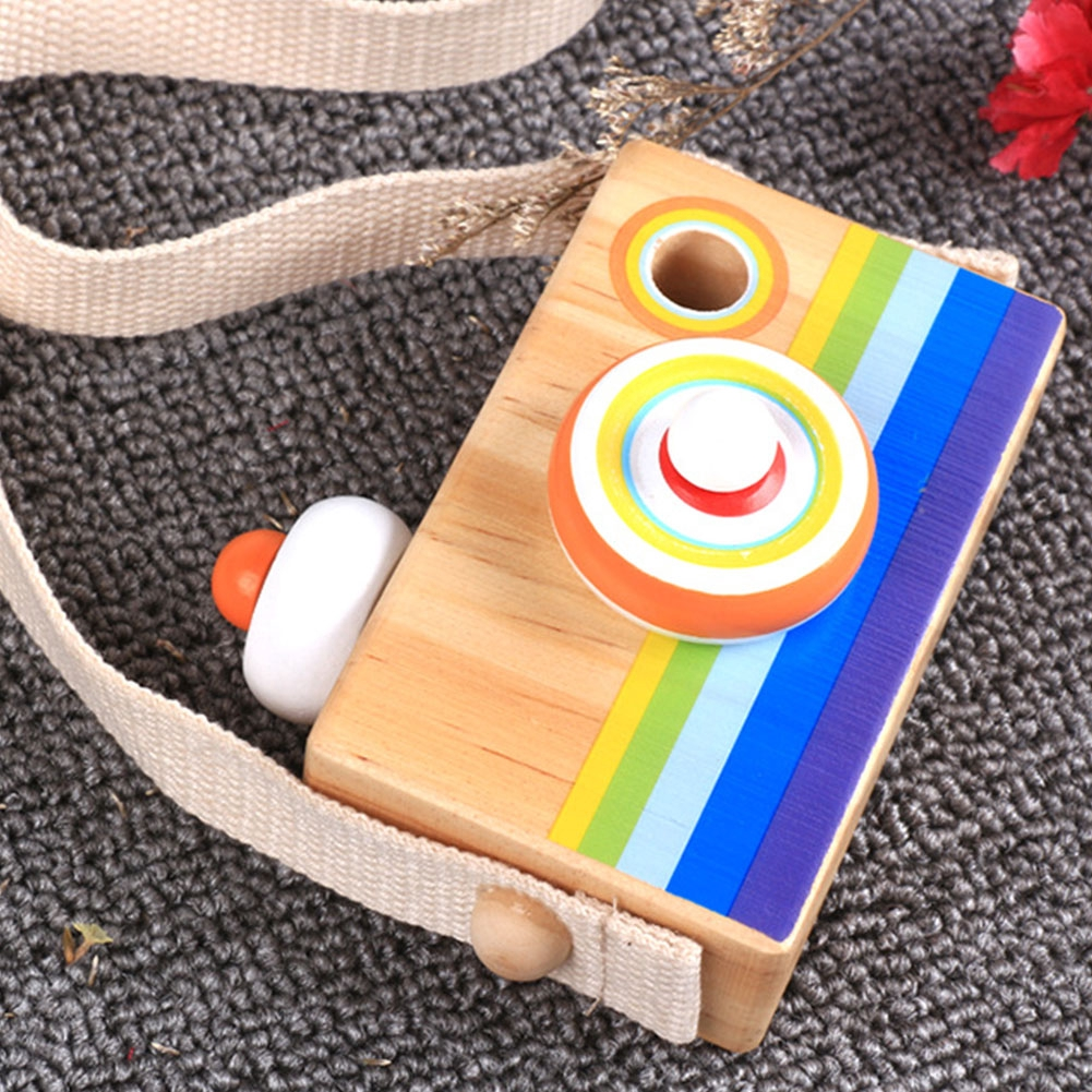 Toy Baby Educational Mini Hanging Decorations Cartoon Camera Gift Kids Wood