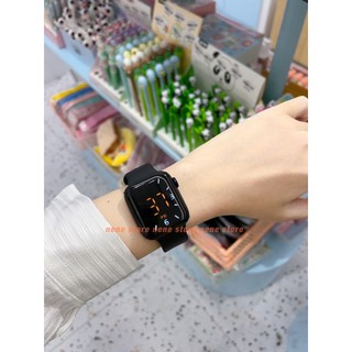 Đồng hồ nam nữ PM dây nhựa CẢM ỨNG kiểu dáng dễ thương nhiều màu