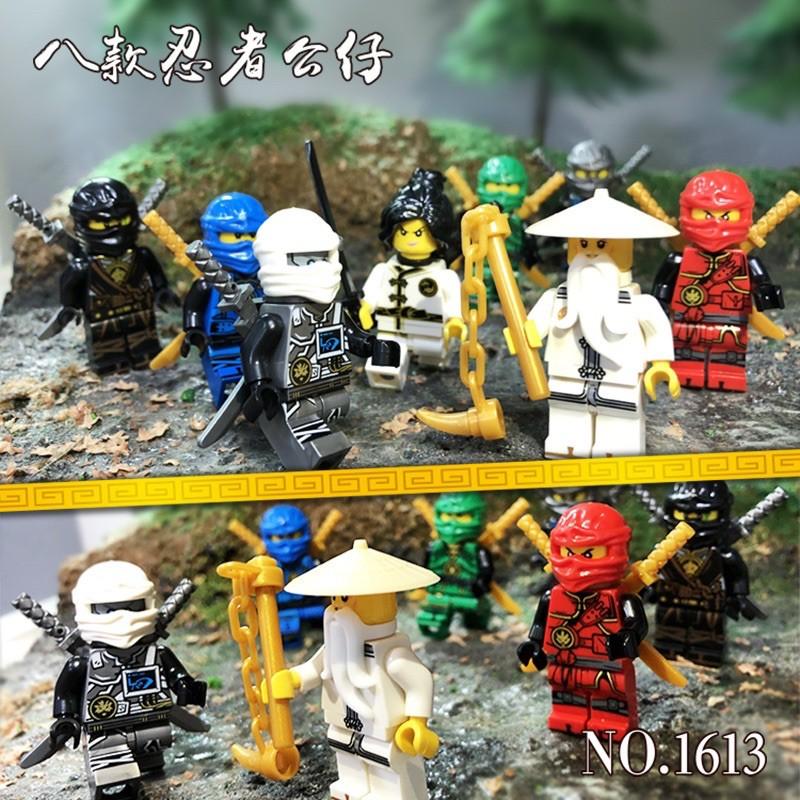 Set 8 nhân vật Lego Ninjago thu nhỏ