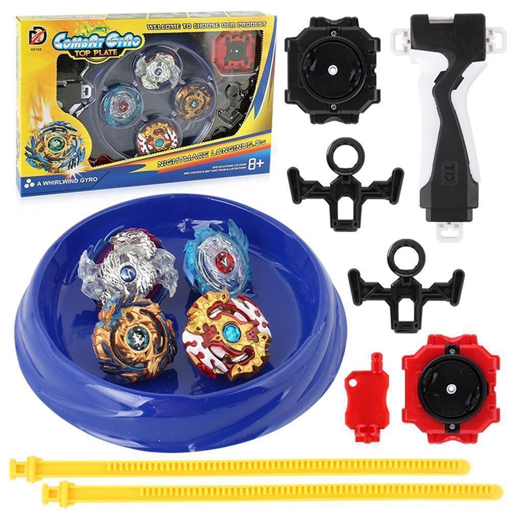 Metal Beyblade Burst Arena Set Gyro Fighting Gyroscope Launcher Spinning Toys Ziyi