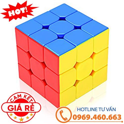Rubik 3x3x3 đẹp, xoay trơn, không rít, độ bền cao. Rubik Rubik YJ Guanlong Stickerless 3x3