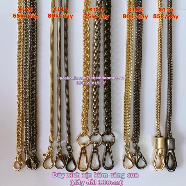 PK túi: Các mẫu dây xích túi xách (hàng đẹp)