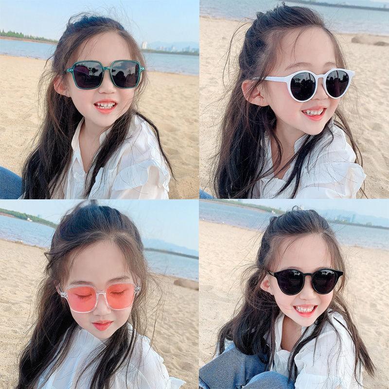 Children s sunglasses, sunglasses, UV protection, boys and girls, Korean personality, square sunscreen, wild sun glasses,