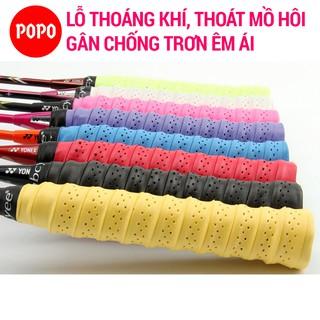 Quấn cán tennis, cầu lông Bộ 5 cái có gân chống trơn POPO chất liệu thoáng khí thoát mồ hôi thumbnail