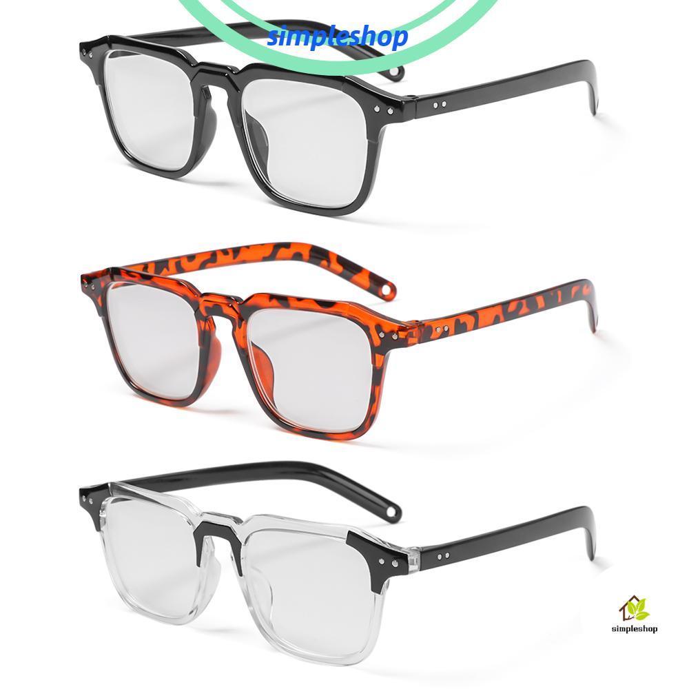 ❀SIMPLE❀ Unisex Optical Eyewear Classic Vintage Eyeglasses Myopia Glasses Office Computer Goggles Fashion Square Frame Vision Care/Multicolor