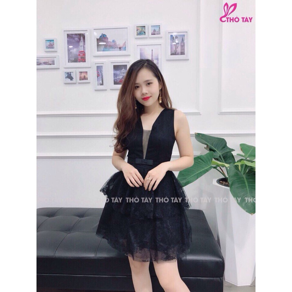 Đầm ren xòe chất đẹp