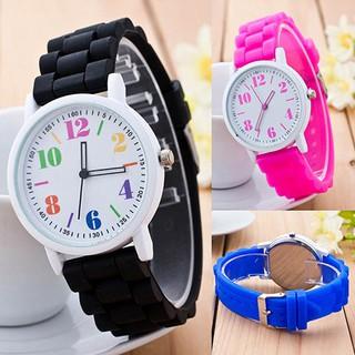Đồng hồ trẻ em có dây đeo silicone,kiểu dáng thời trang