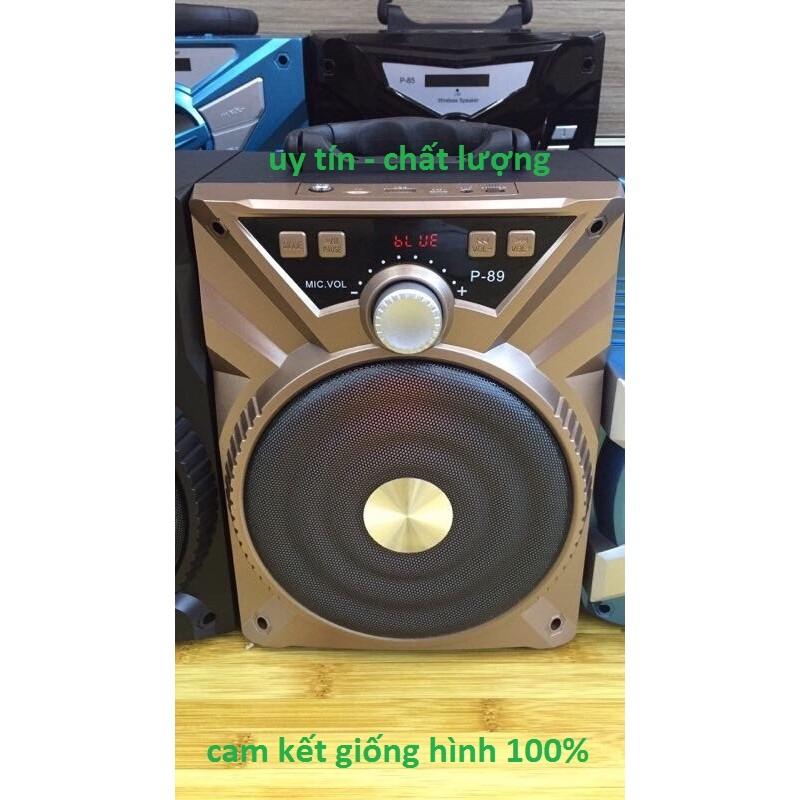 Loa Bluetooth Xách Tay P89 Tặng Kèm Mic - Bh 3 Tháng