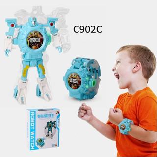 Đồng Hồ BIến Hình Robot Siêu Nhân C902C 2 In1( Xanh)
