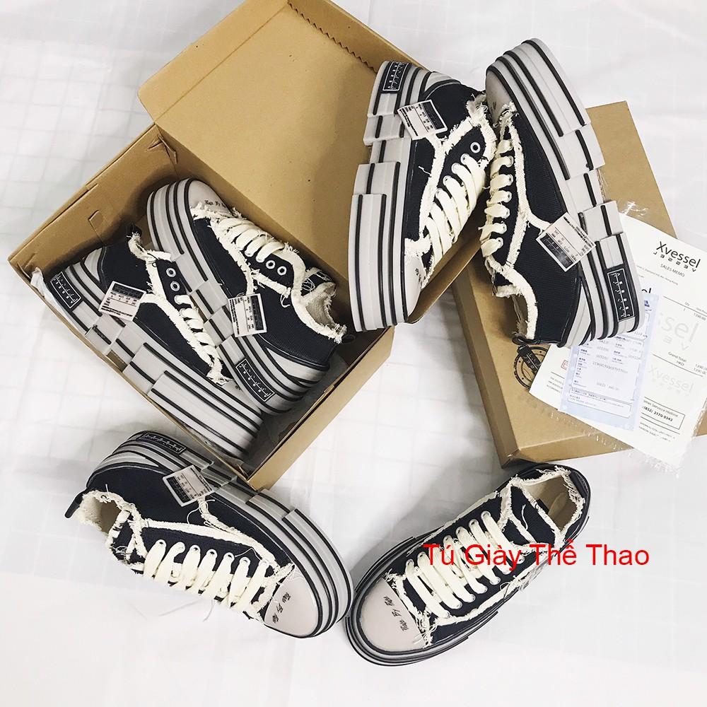 xVESSEL Giày Sneaker Nam Nữ style rách cao 3,5-4cm.