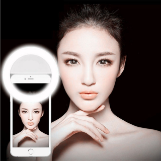 [3cpa] Selfie Portable Rechargeable LED Ring Fill Light Camera Photography for Android Phone iPhone