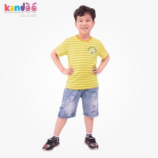 Áo T-shirt bé trai KANDOO, in hình đáng yêu thoải mái hoạt động, 100% cotton cao cấp mềm mịn, thoáng mát-DBTS1713