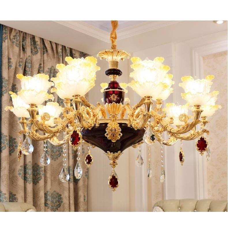 Đèn chùm MONSKY IRELIA trang trí nội thất phong cách Châu Âu hiện đại loại 15 tay - Tặng kèm bóng LED cao cấp