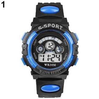 Đồng hồ nam có đèn LED có chức năng bấm giờ, chuông báo, dây cao su