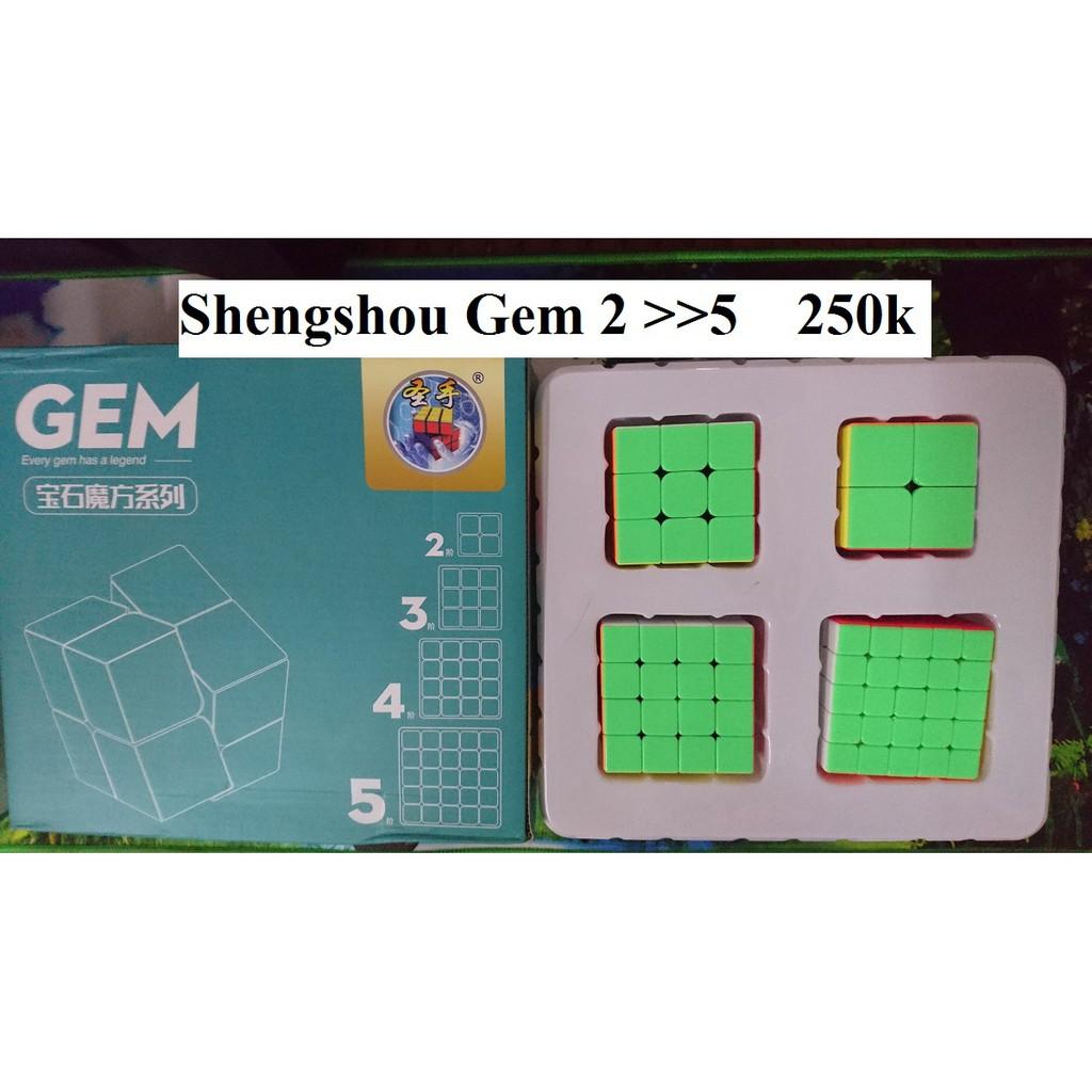 Rubik 2x2x2 đến 5x5x5 Shengshou Gem