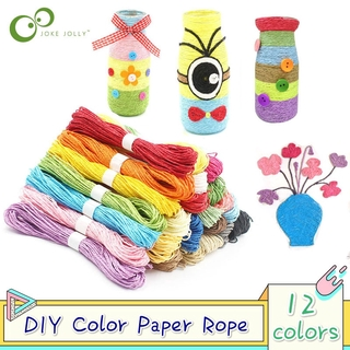 12 Colors Kids Creative DIY Paper String Rope Shilly-Stick Handmade Craft Toy Decoration Kids Educational Art Crafts Toy