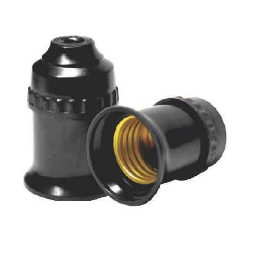 Bộ 2 Đui đèn E27 màu đen