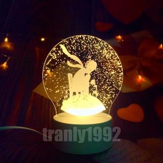 Đèn ngủ 3D HOÀNG TỬ, đèn trang trí, quà tặng sinh nhật độc đáo