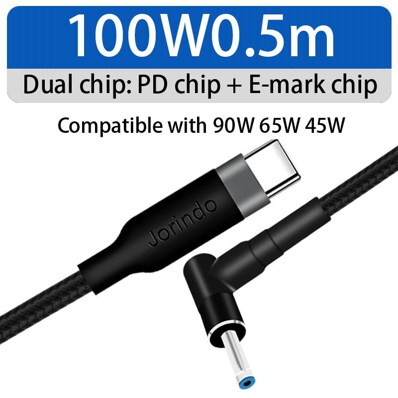 Dây Cáp Sạc Jd0603 Type-C Sang Dc 4.5x3.0mm Cho Hp (0.5M)